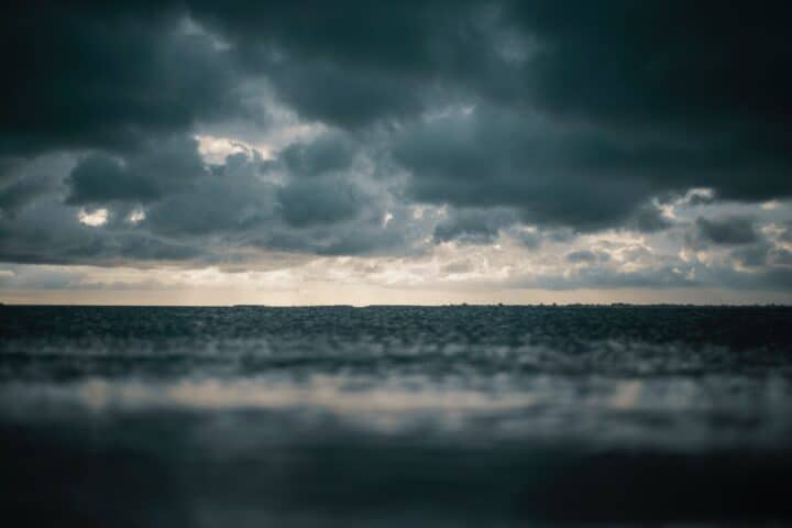 Stormy Ocean and Sky