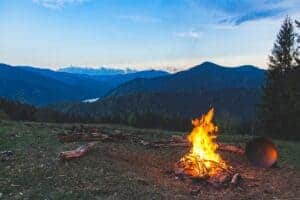 Campfire with a Mountain view