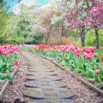Walking on a garden path, a new path in life